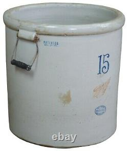 Antique Red Wing Union Stoneware 15 Gallon Crock With Handles Butter Churn 31