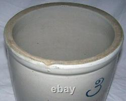 Antique Red Wing Union Stoneware 3 Gallon Crock