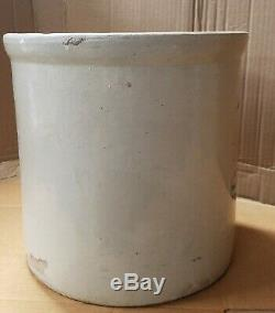 Antique Red Wing Union Stoneware 4 Four Gallon Crock with 4 Inch Wing