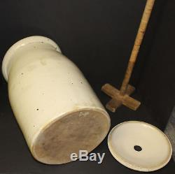 Antique Red Wing stoneware 5 gallon hand thrown crock butter Churn