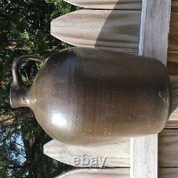 Antique Redware Stoneware Pottery Crock Jug Brown Green Glaze North Carolina