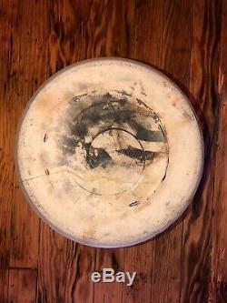 Antique STONEWARE CROCK OTTMAN BROS #2 Fort Edward NY FARMHOUSE Cobalt Blue RARE