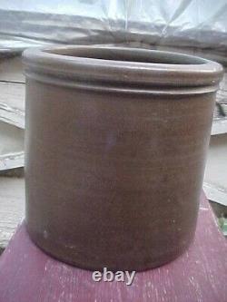 Antique STRIPER Crock Jar Western PA Cobalt Striped 2 GALLON Crock