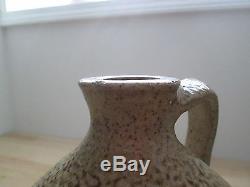 Antique Salt Glaze Stoneware Beehive Pottery Jug