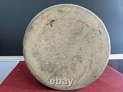 Antique Salt Glazed 2 Gallon Stoneware Crock With Handles