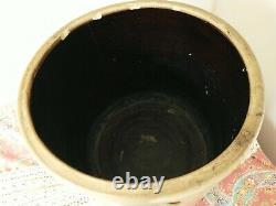 Antique Salt Glazed 5 Gallon Bee Sting Stoneware Beehive Crock