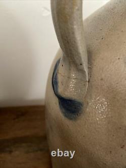 Antique Sipe Nichols Cobalt Blue Cobalt Tulip Stoneware Pottery 1 Gallon Jug