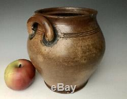Antique Stoneware 1804 Boston Bean Pot Ovoid Crock, F Carpenter, Charlestown MA