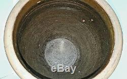 Antique Stoneware 5 Gallon Ovoid Crock Jar Primitive Southern Pottery Edgefield