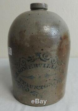 Antique Stoneware Advertising Jug Cobalt Decorated Somerville & Co. Staunton, Va