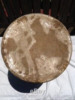 Antique Stoneware Butter Churn Jug Pottery Bird Decoration