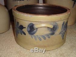 Antique Stoneware Cake Crock Remmey Pa Med size