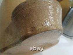 Antique Stoneware Chicken Waterer Feeder Poultry Fountain Crock Large BEAUTIFUL