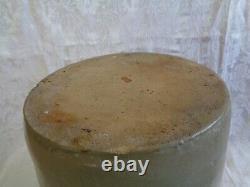 Antique Stoneware Cobalt Blue Decorated Butter Churn Salt Glazed