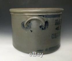 Antique Stoneware Cobalt Stencil 2G Cake Crock, Hamilton & Jones, Greensboro PA