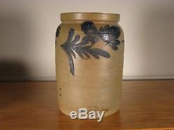 Antique Stoneware Crock, 1 Gal. Remmey, R. C. R Phila. Stoneware Crock