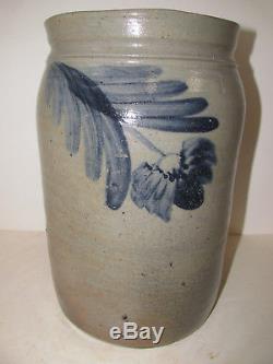 Antique Stoneware Crock, Attrib. Maulden Perine/ William Linton, Ca. 1858