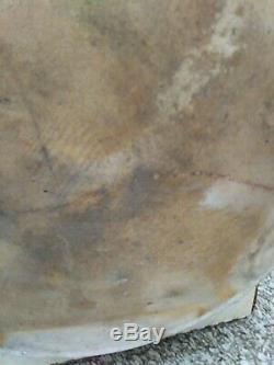 Antique Stoneware Crock HUBBELL & CHESEBRO Geddes, NY Four Gallon