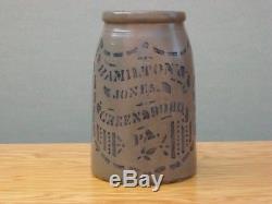 Antique Stoneware Crock, Hamilton & Jones 1 Gal. Stoneware, Canning Crock