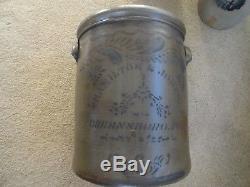 Antique Stoneware Crock Hamilton & Jones 6gal Greensboro Pa