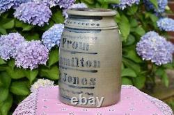 Antique Stoneware Crock, Hamilton & Jones, Western Pa