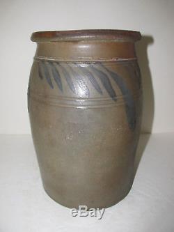 Antique Stoneware Crock, Jar, Origin Unknown, cobalt, ceramics