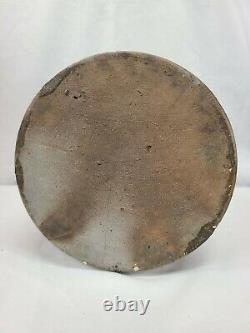 Antique Stoneware Crock, Jas Hamilton & Co Greensboro Pa, Gray With Blue Letters
