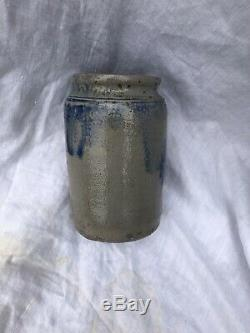 Antique Stoneware Crock Only 6.5 Tall