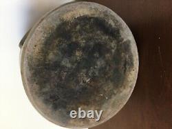 Antique Stoneware Crock RARE 2 Gallon Blue Drop slip Salt Glaze Design Vintage