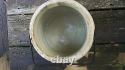 Antique, Stoneware Crock with Lid and Iron Bail