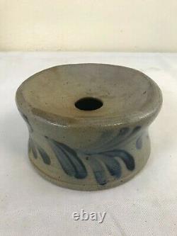 Antique Stoneware Cuspidor Cobalt Floral Decoration Atr. Remmy Phila