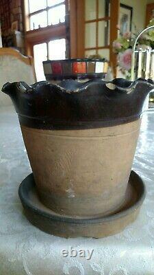 Antique Stoneware Flower Pot