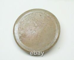 Antique Stoneware Salt Glazed Wax Sealer Crock With Lid 9-3/4 Blue Flower