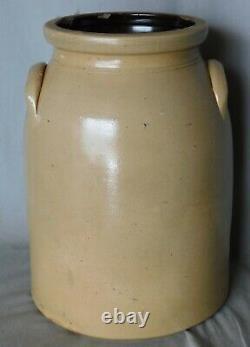 Antique Stoneware crock Haxstun & Co. Ft. Edward 3 gallon cobalt decorated 1875