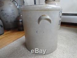 Antique Stoneware crock dated 1869 3 gallon