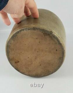 Antique Unmarked Salt Glazed Beehive Stoneware Whiskey Jug Crock, Large 11