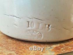 Antique Very Large 10LB Stoneware Bread/Butter Crock Pot by Gray of Portobello