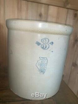 Antique / Vintage #2 RED WING CROCK 3 Gallon Union Stoneware 4 Inch Wing