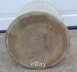 Antique Vintage 5 Gallon Red Wing Union Stoneware Black Elephant Ear Crock