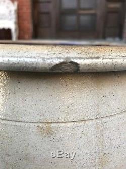 Antique Vintage Blue Decorated Stoneware Crock Cowden Wilcox Harrisbur Pa