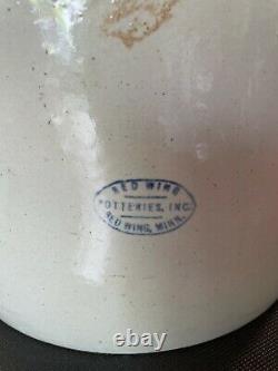 Antique Vintage RED WING 4 Gallon Crock Pot Stoneware Potteries Inc. Minn