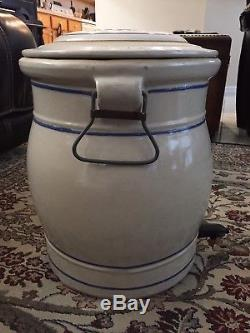Antique Vintage Red Wing Stoneware 5 Gallon Water Cooler / Crock with Lid & Faucet