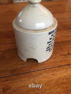 Antique Vintage Stoneware Westko Chicken Waterer Feeder