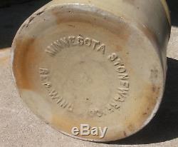 Antique Vtg 2 Gallon Bottom Signed Red Wing Salt Glaze Stoneware Double P Crock