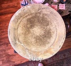 Antique WESTERN STONEWARE CROCK #5 FARMHOUSE CobaltBlue Stencil SaltGlazed Rare