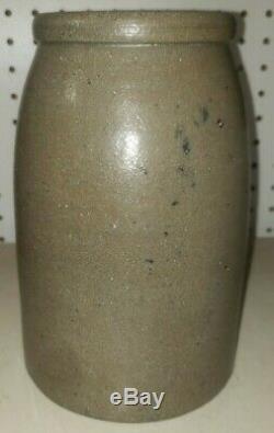 Antique W. M. Rogers Pottery Proctor WV Stoneware Crock Ohio River Town Jar Rare