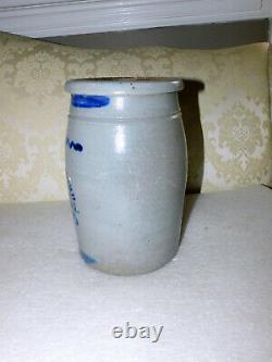 Antique West Virginia Merchant Stoneware Crock
