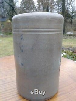 Antique West Virginia Stovepipe Stoneware Merchant Crock