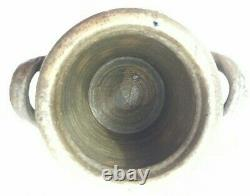 Antique Westerwald Salt Glazed Cobalt Stoneware Handled Crocks 8.5/5.25 German
