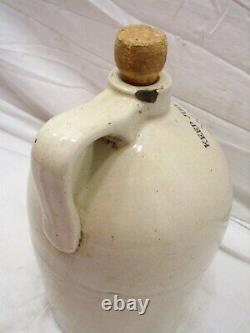 Antique Wm. Radam's Microbe Killer No. 2 Stoneware 1 Gal Jug Crock Pharmacy